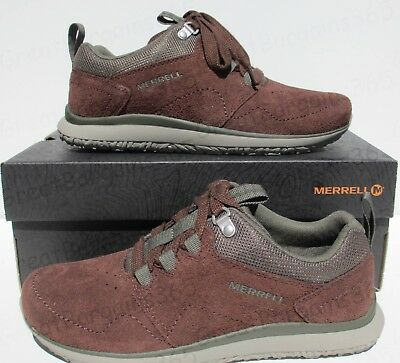 Mens Merrell Getaway Locksley Lace Leather Walking Shoes Trainers Brown New