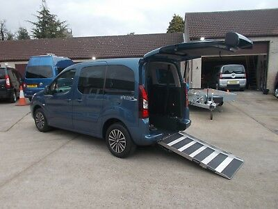 Wheelchair Accessible Disabled Wav Car 2013 Peugeot Partner Horizon Se Rear Ramp