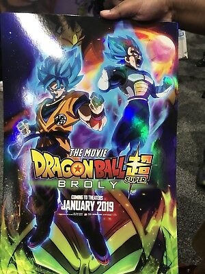 Sdcc 2018 Dragonball Super Broly Poster Dbz Funimation San Diego Comic Con Movie