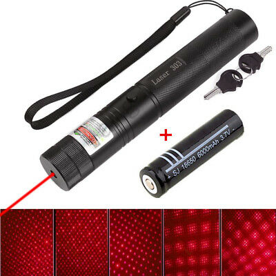 10 Miles Visible Laser Beam 303 Red 1mw 532nm Laser Pointer pen & 18650 Battery