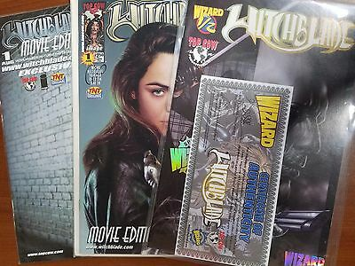 Witchblade Wizard Top Cow #1/2 & #1 Movie Edition & #1 Movie Edition Exclusive