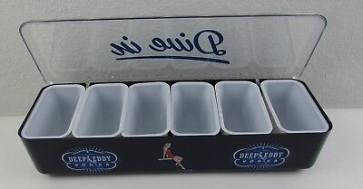 Deep Eddy Vodka Dive In Condiment Tray 6 Removable Compartments Caddy New