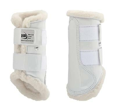 DSB The Glossy Dressage Sport Boot - White - Different Sizes
