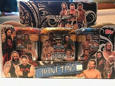 Topps WWE Slam Attax Live Trading Cards Game MINI TINS includes Limited Edition