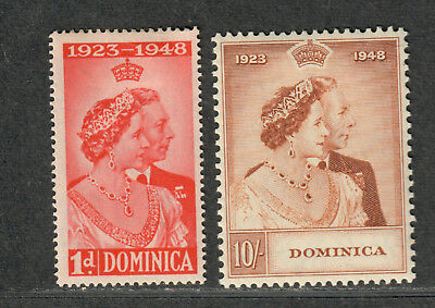 Dominica Sc#114+115 M/H/VF, Complete Set Silver Wedding, Cv. $25.25