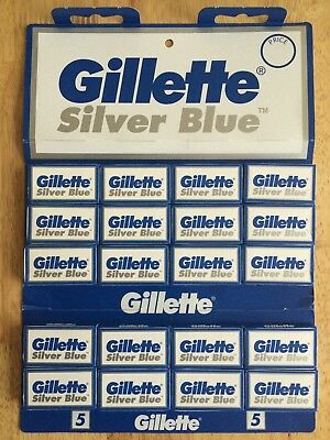 Gillette Silver Blue Double Edge Razor Shaving Blades - 100% Genuine