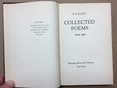 T S Eliot Collected Poems 1909 1935 Hb 1936 800