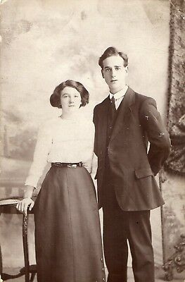 POSTCARD by R LYTTLE BELFAST (OFFICAL PHOTOGRAPHER TO IRISH FOOTBALL WITH COUPLE