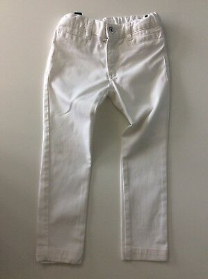 D&G dolce And Gabbana White  Skinny Jeans Age 4 Years Gc