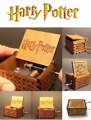 Harry Potter Engraved Wooden Music Box Toys Kids Gifts uk stock 2018
