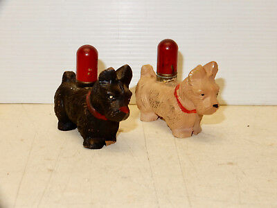 Vintage Set Composition Scottie Dogs Lighters
