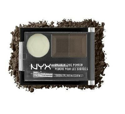 NYX Eyebrow Cake Powder - Eye Brow ECP02 DARK BROWN/BROWN 0.09OZ