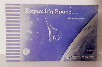 Exploring Space...Project Mercury NASA Booklet Illustrations 1960 NOS