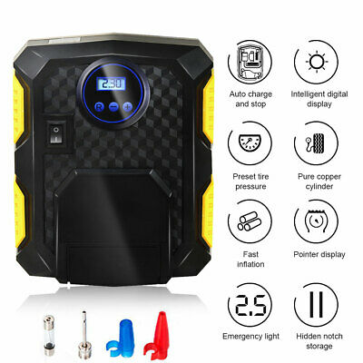 Portable LCD 150PSI 12V Air Compressor Auto Car Electric Tire Tyre Inflator Pump