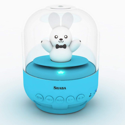 Speaker for kids bell Jar animal pet mini Bluetooth speaker with Mic Blue Bunny