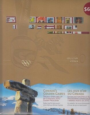 2010 CANADA  scarce ANNUAL COLLECTION STAMPS stamps mint book & binder