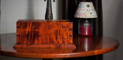 Reproduction Tiger Maple Candle Box Figured, Add To Home Decorators  Collection.