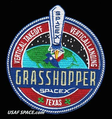 Grasshopper - Spacex Falcon-9 Satellite Launch- An Excellent Quality Repro Patch