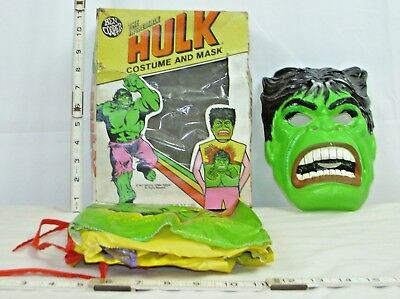 BEN COPPER THE INCREDIBLE HULK MARVEL HALLOWEEN COSTUME BOXED 1970s