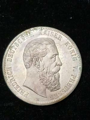 1888 Prussia Looks like 5 Mark but is medal in honor of Emporer Friedrich death