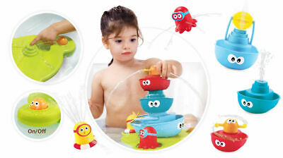 Yookidoo Baby Bath Toy Stack N Spray Tub Fountain