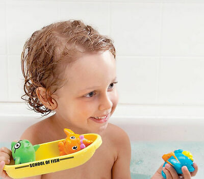 Munchkin Super Scoop Bath Orgasniser & School of Fish Bath Toy