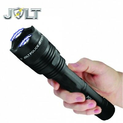 Police Tactical STUN GUN with LED Flashlight 95,000,000 Volts Lifetime Warranty!