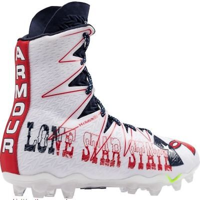 Mens Under Armour Highlight MC LE TEXAS Football Cleats 10 White Red 1275479-410