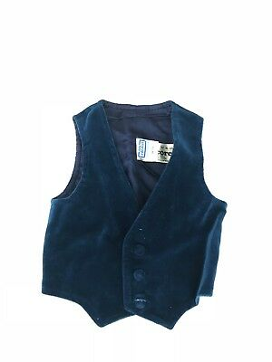 Vintage 1970's Jean Le Bourget Blue Vest Made in France sz 94/3a