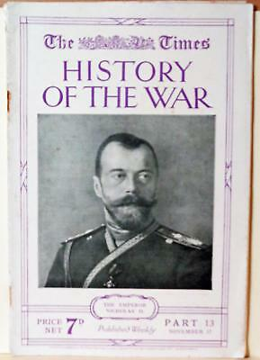 Times History of the War WWI 1914 History of the Russian Army Photos