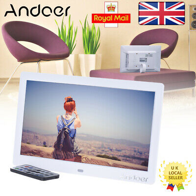 """Andoer 10"""" HD LCD Digital Photo Frame Picture Album MP3 MP4 Video Movie Player"""