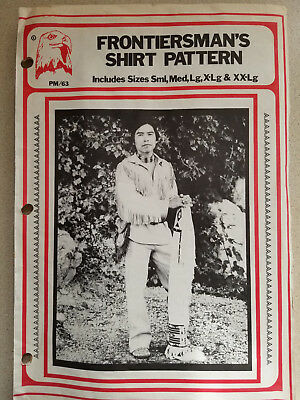 Vintage Frontiersman's Leather Shirt Pattern Fringe Tandy Leather Company