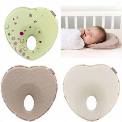 Memory Foam Pillow Support Prevent Infant Anti Roll Flat Head Newborn Neck Baby