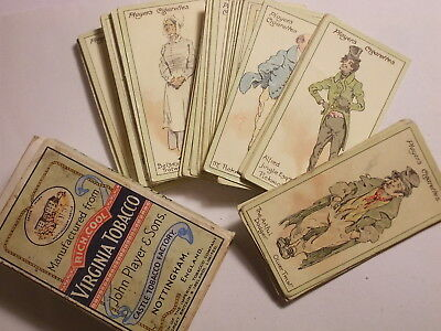 """Full Set of 50 Players 1923 Cigarette Cards. """"Characters from Dickens"""" VG"""