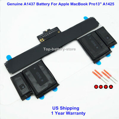"""Genuine A1437 Battery For Apple MacBook Pro 13"""" Retina A1425 2012 2013 Version"""