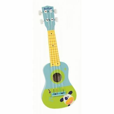 Boikido My First Wooden Colourful Guitar Kids Musical Toy Blue