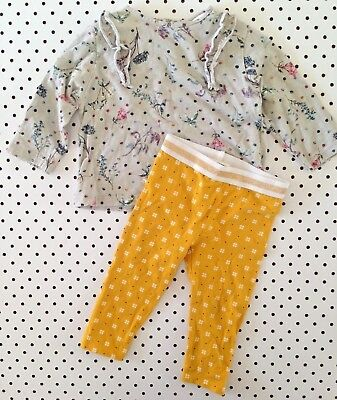 Baby Girls Size 0 6-12mth Country Road Zara Top Leggings Winter Outfit