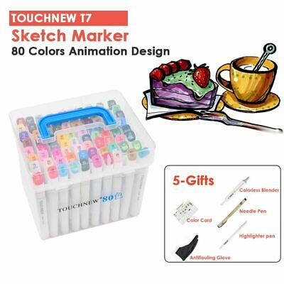 Touch 7! 80 Colour Animation Marker Pen Graphic Art Sketch Broad Fine Gift Box