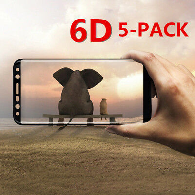 5PC 9H 6D Full Cover TEMPERED GLASS SCREEN Film FR SAMSUNG S8 S9 Plus Note 8 lot