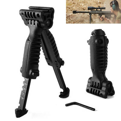 20mm Picatinny Foldable Tactical Swivel Hunting Bipod Foregrip Rail For Rifle