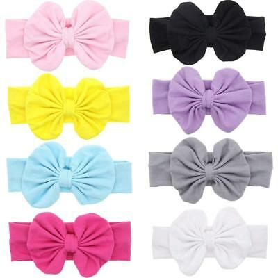 Mookiraer Baby Hair Hoops Headbands Girl's Soft Headbands With bows 8 Pack