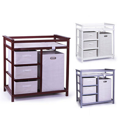 Changing Table Infant Baby w/ 4 Basket Diaper Storage & Free Change Pad Nursery