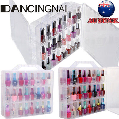 Portable Pro Nail Polish Storage Box Organizer Holder For 48 Bottles Display POP
