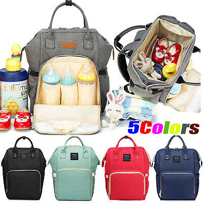 Large Mummy Multifunctional Baby Diaper Nappy Backpack Mom Changing Travel Bag