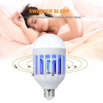 LED Bug Zapper Light Bulb Mosquito Bugs Flies Insect Killer lamp Pest Control US