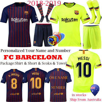 18/19 Soccer Club Adult Kids Football Kit Home Away Sport Outfit Jersey Socks