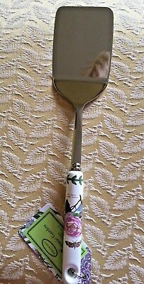 Portmeirion Botanic Garden stainless steel spatula ceramic handle new with tags