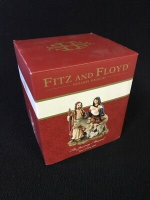 Fitz and Floyd Holy Night Nativity The Journey Musical Figurine 7'' O Holy Night