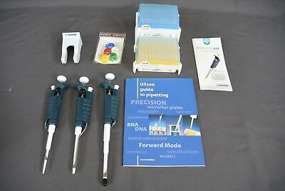 Gilson Pipetman Classic Starter Kit P20, P200, and P1000 + D200 and D1000