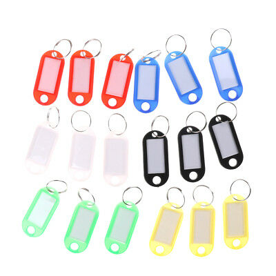 20X Keychain Key Split Ring ID Tags Name Card Label Luggage Bag TagEP